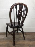 Antique Ash & Elm Child's Wheelback Chair (5 of 6)