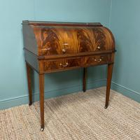 Superb Quality Victorian Antique Cylindrical Mahogany Desk by Maple & Co (4 of 12)