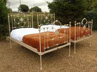 Pretty Pair of Victorian Large Single Beds Seventh Heaven (9 of 11)