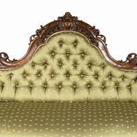 Elaborate Victorian Shaped Walnut Sofa (6 of 12)