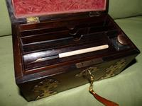 Dome Top Fitted Walnut Stationery Box c.1875 (6 of 11)