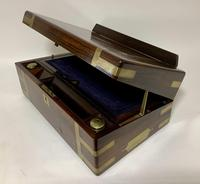 Superb Antique Victorian Rosewood Brass Bound Writing Slope Box (9 of 15)