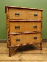 Antique British Colonial Bamboo Chest of Drawers (16 of 16)