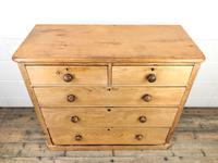 Victorian Antique Pine Chest of Drawers (2 of 10)
