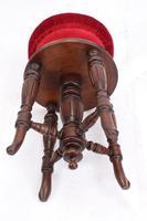 Antique Victorian Revolving Adjustable Piano Stool (10 of 13)