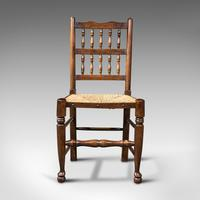 Set of 12, Antique Lancashire Chairs, Beech, Spindle Back, Seat, Edwardian, 1910 (3 of 12)