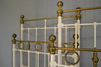Matching Pair of Victorian Beds, 3ft Single Brass & Iron Bedsteads (2 of 12)