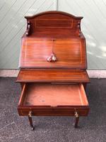 Edwardian Inlaid Mahogany Writing Desk (8 of 10)
