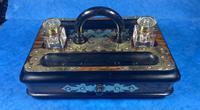 Victorian Brassbound Walnut Inkstand (2 of 16)