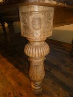 Large 19th Century Oak Table by James Cawley (2 of 9)