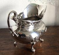 Unusual Scottish Pierced Silver Milk Jug c.1900 (3 of 5)