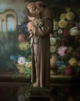 Bohumil Kafka RARE Carved Statue Sculpture St Anthony & Jesus (2 of 32)