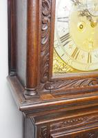 Early 18th Century Longcase Clock Fine English Oak  James Smith Grandfather Clock Brass Dial c.1720 (9 of 10)