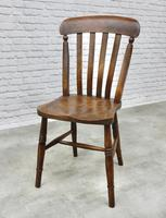 Set of 4 Windsor Lath Back Kitchen Chairs c.1890 (2 of 5)