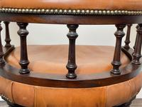 Charming Traditional Victorian Style Tan Brown Office Captains Bankers Chair (40 of 42)