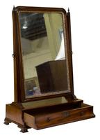 George III Mahogany Toilet Mirror with Single Drawer (3 of 6)