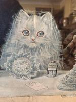 "Victorian Louis Wain Print ""The Wedding Breakfast"" Advertising Mellin's Food Biscuits (4 of 14)"