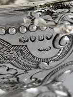 Victorian Antique Silver Fruit Bowl 1861 London William Stocker Sterling Bowl (5 of 11)