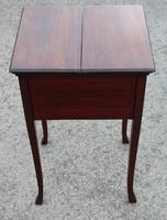 1900s Mahogany Sewing Cabinet Table (4 of 4)