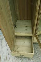 Superb! Old Triple Door 'Knock Down' Pine Combination Wardrobe - We Deliver! (3 of 11)