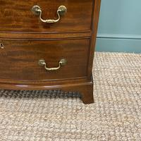 Small Quality Edwardian Mahogany Antique Bow Fronted Chest of Drawers (3 of 7)