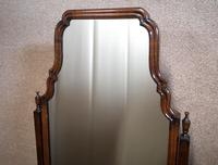 Edwardian Mahogany Queen Anne Style Cheval Mirror (3 of 12)