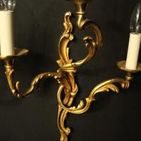 French Set of 6 Bronze Antique Wall Lights (4 of 7)