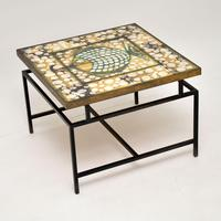 1960's Tiled Top Brass Coffee Table (5 of 18)
