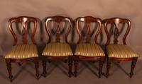 Set of 12 Victorian Spear Point Balloon Back Dining Chairs (5 of 11)