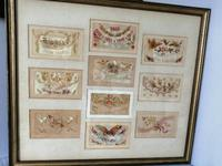 Ten Early 20th Century Embroidered Silk Greetings Cards