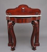 19th Century Mahogany & Marble Top Console Table (2 of 12)