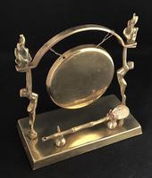 Art Deco Brass Dinner Gong & Striker (3 of 6)