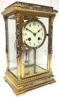 Awesome Antique French Champlevé Ormolu Bronze 8 Day Striking Mantel Clock c.1880 (2 of 13)
