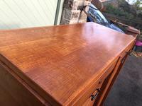 Antique Oak Double Filing Cabinet (7 of 10)
