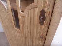 Art Deco Pine 1 Door Linen / Bathroom / Storage Cupboard to wax / paint (7 of 9)