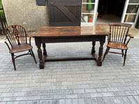 19th Century Oak Refectory Table (2 of 6)