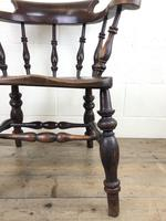 19th Century Ash and Elm Smoker's Bow Chair (M-1704) (6 of 15)