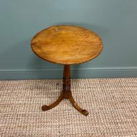 Georgian Country House  Elm Antique Tripod Table (5 of 6)