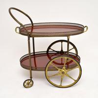 1960's Vintage French Brass Drinks Trolley (3 of 13)