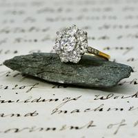 The Antique 3 Carat Diamond Cluster Ring (3 of 6)