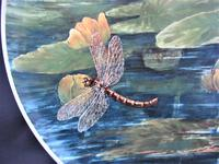 Hand painted Aesthetic Period Copeland pottery footed plate signed & dated 1878 (2 of 9)