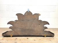 Victorian Carved Oak Wall Hanging Shelf (7 of 7)