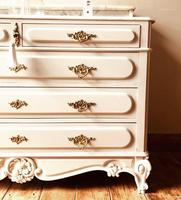 Antique Style Chest of Drawers with Marble Gallery / Grey Drawers (4 of 7)