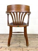 Early 20th Century Antique Oak Desk Chair (8 of 9)