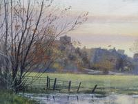 Watercolour Amberley Sunset Listed artist Andrew Dandridge (Free shipping to Mainland England) (9 of 10)
