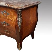 Continental Marquetry Bombe Commode Chest (4 of 14)