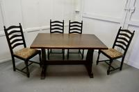 Oak Refectory Table with Set of 4 Chairs (5 of 8)