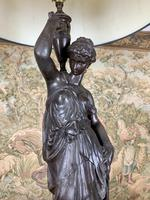 Super Quality 19th Century Lamp Featuring a Maiden (5 of 6)