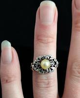 Antique Georgian Diamond & Pearl Ring, 18ct Gold (9 of 14)