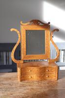 Swedish Birch / Masurbjörk Box Mirror Rococo style c.1820 (3 of 15)